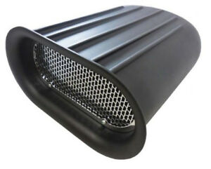 Small Black Finned Scoop Air Cleaner Gasser Dragster Single 4 Barrel Ford Chevy