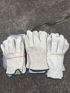 Mens Cowhide Leather Work Gloves medium 16 Pairs