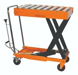 Material Handling Hydraulic Roll Top Lift Table Cart 660 Lb Tf30r