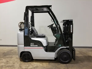 2007 Nissan Mcp1f2a25lv 5000lb Smooth Cushion Forklift Lpg Lift Truck Hilo 61 80