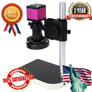 14mp 1080p Hdmi Usb Digital Industry Video Microscope Set Camera C mount 8x 100x
