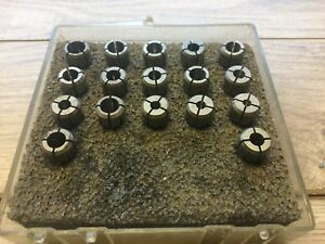 Nice Set Of Kennametal Erickson Da200 Collet Set 1 8 3 8