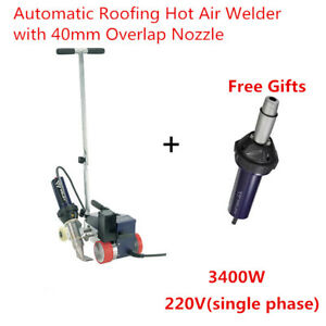Roofer Rw3400 Automatic Roofing Hot Air Plastic Welder 40mm Overlap Nozzle
