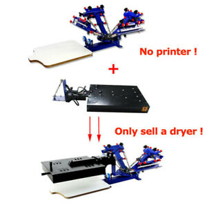 16 X 16 Inch Screen Printing Flash Dryer T shirt Press Ink Curing Machine Rotary