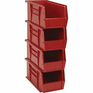 Quantum Heavy duty Storage Bins 4 pk Red
