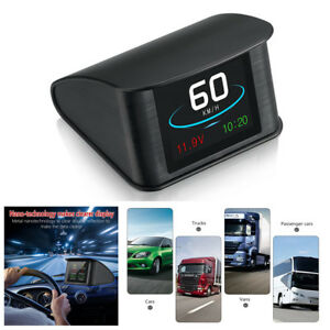 Car Digital Gps Hud Driving Computer Display Driving Speed voltage driving Time