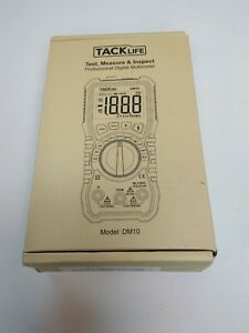 Multimeter Tacklife Dm10 Electrical Tester 2000 Counts Auto ranging Amp Volt