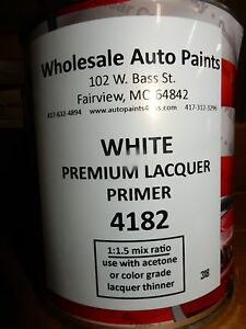 High Build Premium Acrylic Lacquer Primer White Quart Fast Dry Easy Sanding 1k