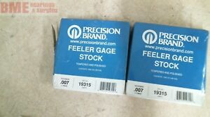 Lot Of 2 Precision Brand Feeler Stock 19315 Thickness Gauge 007