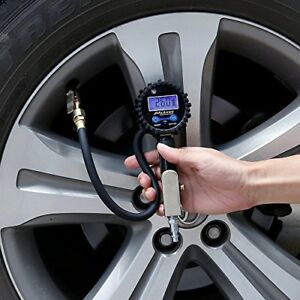 Digital Tire Pressure Gauge Air Compressor Car Rubber Tire Heavy Duty Motorcycle
