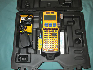 Dymo Rhino 5200 Industrial Label Maker Includes Carry Case Charger