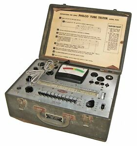 rare vintage 50 s Philco 9200 Tube Tester In Case loktals oa oy oz tested works