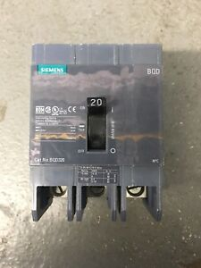 Siemens Bqd320 Circuit Breaker 3 Pole 20 Amp New Out Of Box