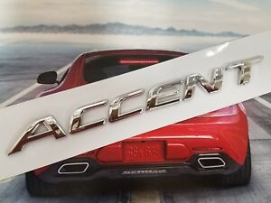Accent Rear Trunk Emblem Logo Decal Badge Word Letters Fit Hyundai Nameplate