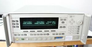 Agilent Hp 83624a Synthesized Sweeper 2 20ghz High Power Calibrated Opt 004 008