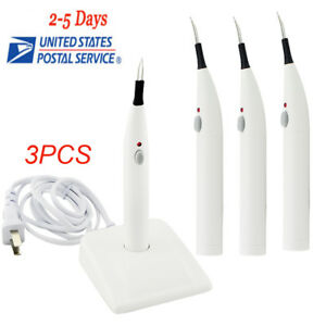 3pcs Dental Gutta Percha points Teeth And Tooth Gum Cutter With 4 Tips