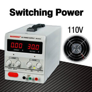 New Adjustable Lab Dc Bench Switching Power Supply Ms305d 0 30v 0 5a 110v Silver