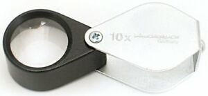 Loupe For Eschenbach Inspection Folding Metal Magnifier Magnification 10 Ti