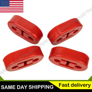 4x Exhaust Mount 2holes Rubber Insulator Grommet Hanger Bushing 11mm Rod Support