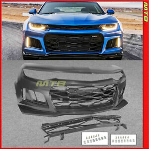 Zl1 Style Conversion Front Bumper Kit With Grille 16 18 Chevy Camaro Rs Lt Ss Ls