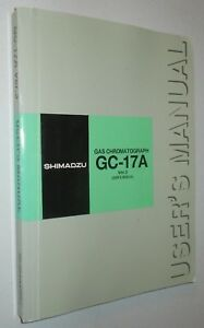 Shimadzu Gas Chromatograph Gc 17a Ver 3 User s Manual