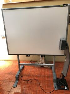 used Smart Board Sb680 77 Interactive White stand W wheels pickup Only