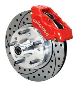 Wilwood 140 10996 Dr Forged Dynalite Pro Brake Series Red 11 In Drilled Slot