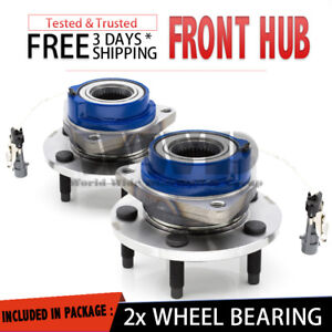 front Pair Wheel Hubs Bearing Buick Cadillac Chevrolet Pontiac Saturn Abs Stud