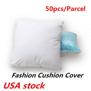Us 50pcs Sublimation Blank Pillow Case Single Face Bear Pattern Cushion Cover