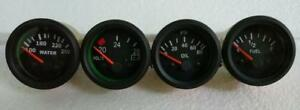 24v Electrical Gauges 52mm Oil Pressure Temp Fuel Volt Gauge