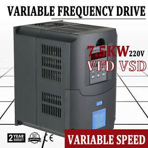 7 5kw 34a 220v 10hp Vfd Inverter Single Phase Speed Variable Frequency Drive