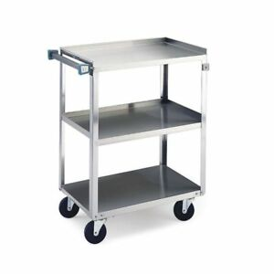 Lakeside Stainless Steel Cart 3 Shelf 30 3 4 l X 18 3 4 w X 33 h 93116