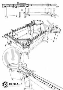 New Globaltek Stainless Steel 180 Degree U shape Conveyor Line System