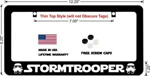 Star Wars Stormtrooper Design 2 Custom License Plate Frame
