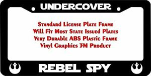 Star Wars Undercover Rebel Spy Custom License Plate Frame