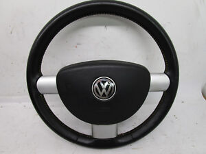 Vw New Beetle 3 Spoke Leather Steering Wheel Yellow Stitch Colors Edition 2002