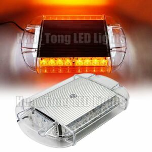 13 2 Inch Light Bar 24w Led Emergency Beacon Warn Safety Strobe Mini Amber White