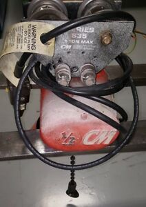 Used Cm 1 2 Ton Electric Chain Hoist 3 Phase 460v