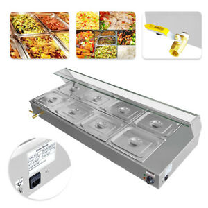 110v 8 pan Bain marie Restaurant Food Warmer Top Buffet Steam Table Best Price