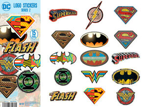 Tattoo Flat Vending Machine Capsule Toys Dc Comics Logo 2 Stickers