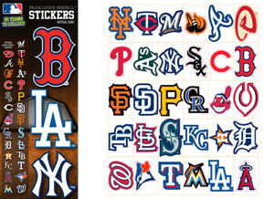 Tattoo Flat Vending Machine Capsule Toys Mlb Baseballs Logo Stickers