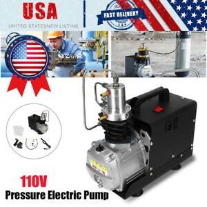 Usa 110v 30mpa Air Compressor Pump Pcp Electric 4500psi High Pressure System