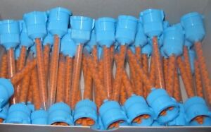 100 Pieces Of Blue orange Temporary Crown And Bridge Mixing Tips 10 1 4 1 Ratio
