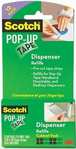 Scotch Pop up Tape Strips 3 4 X 2 Inches 12 Pads 75 Strips pad 90m 12pk