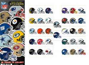 Tattoo Flat Vending Machine Capsule Toys Nfl Team Helmet Stickers