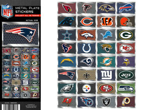 Tattoo Flat Vending Machine Capsule Toys Nfl Metal License Plate Stickers
