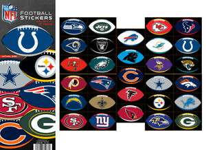 Tattoo Flat Vending Machine Capsule Toys Nfl Logo Football Stickers