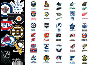 Tattoo Flat Vending Machine Capsule Toys Nhl Logo Die Cut Stickers
