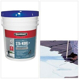 Pro White Roof Coating Reflecting Built Up Roofing Cement Tile Metal Roofs New