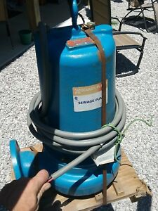 New Goulds Water 3 Hp Manual 3 Submersible Sewage Pump 460 Volt Free Shipping